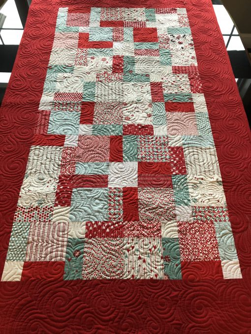 Little Red Quilt and Changing Pad