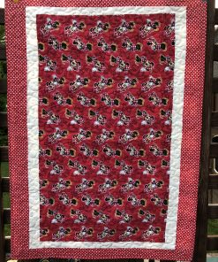 Custom Mini Mouse Flannel Backed Quilt