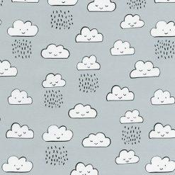 Neighborhood Pals, Grey Happy Clouds by Farida Zaman; Robert Kaufma