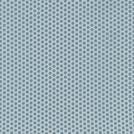Bees Knees, Gray Honeycomb by Andie Hanna; Robert Kaufman