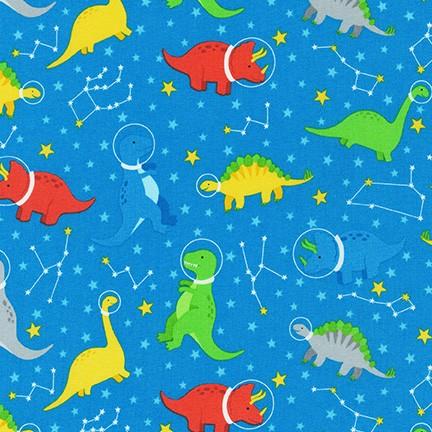 DINO-SOAR, Blue Yonder by Andie Hanna; Robert Kaufman Fabrics