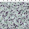 Amethyst Garden Viney Leaves, Light Gray
