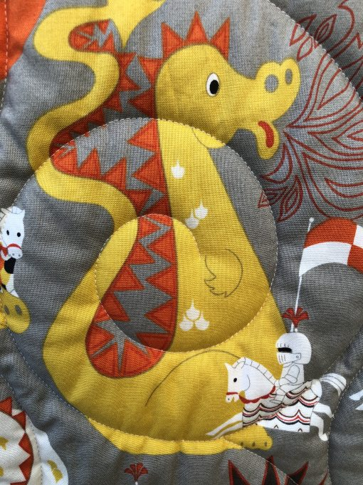 Dragons & Knights Quilt, with Coordinating Changing Pad