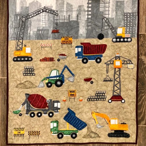 Construction Site Toddler or Baby Quilt