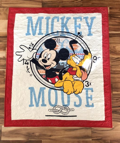 Minky backed Nautical Mickey Quilt!