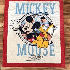 Minky backed Nautical Mickey Quilt!