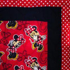 Toddler Crib Quilt Minnie Bows