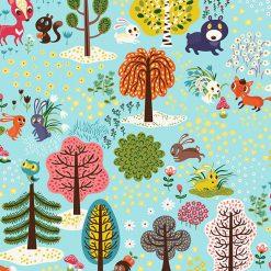 Forest Babes, Light Teal, Helen Dardik