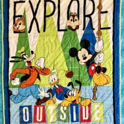 Disney, Mickey, Chipmunks, Donald, Pluto and Goofy quilt