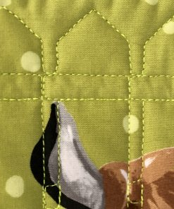 Barnyard Buddies Quilt Kit, close up of quilting