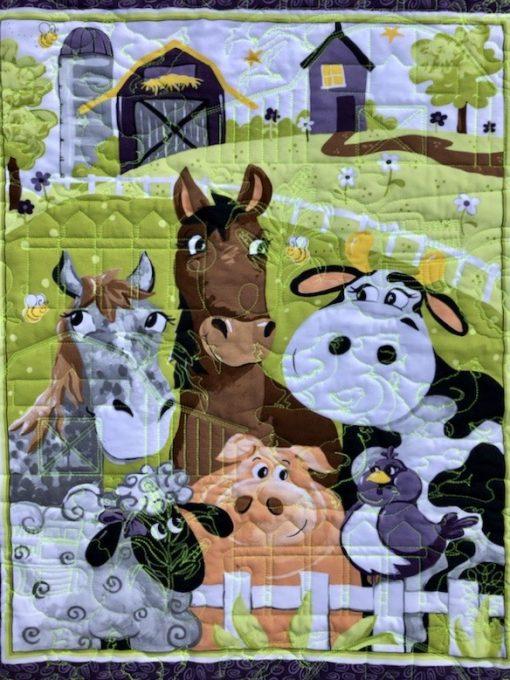 Barnyard Buddies Quilt Kit Panel