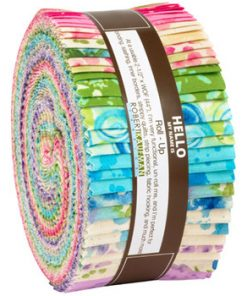 "R0590923-1 Robert Kaufman Bright Color Story Roll Up 2.5"" strips"