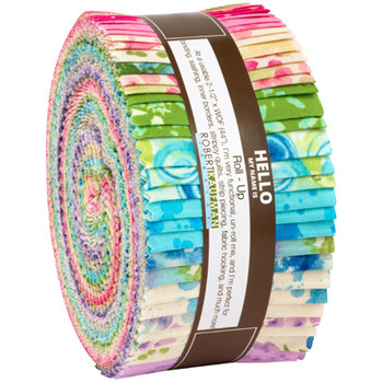 """R0590923-1 Robert Kaufman Bright Color Story Roll Up 2.5"""" strips"""