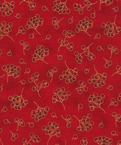 HOLIDAY FLOURISH 13-RED Berries, Robert Kaufman