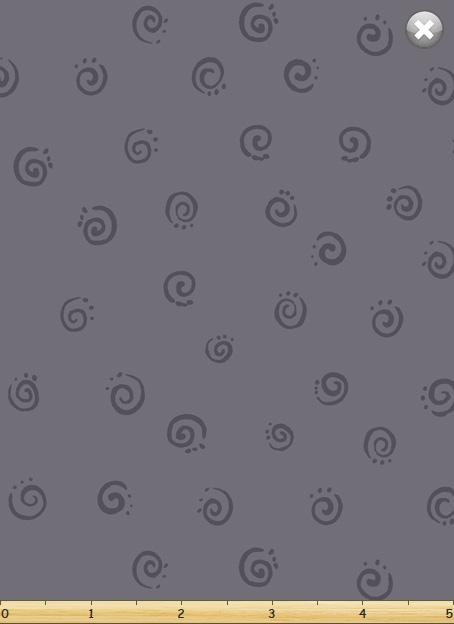 Squiggle, Medium Grey by Susybee; Clothworks
