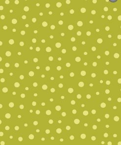 Irregular Dots, Dark Lime By Susybee; Clothworks