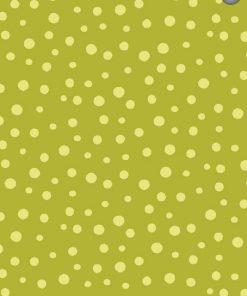 Irregular Dots, Dark Lime By Susybee; Clothworks