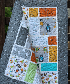 Neighborhood Pals Quilt Kit, Robert Kaufman fabric