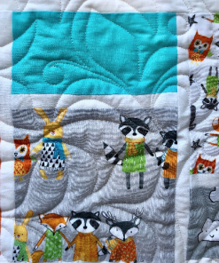 Neighborhood Pals Quilt Kit, Robert Kaufman fabric