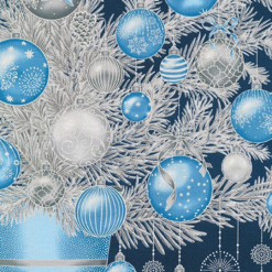 HOLIDAY FLOURISH 13, NAVY, Christmas Tree Panel