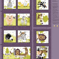 "Barnyard Buddies 36"" Wide Panel Storybook by Susybee; Clothworks"