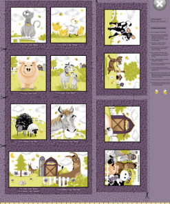 "Barnyard Buddies 36"" Wide Panel Storybook by Susybee; Clothworks"