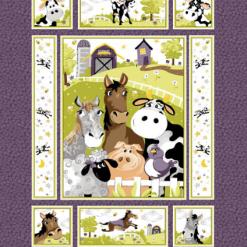 "Barnyard Buddies, 36"" Quilt Panel by Susybee; Clothworks"