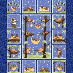 """Baron the Bear 36"""" Quilt Panel by Susybee; Clothworks"""