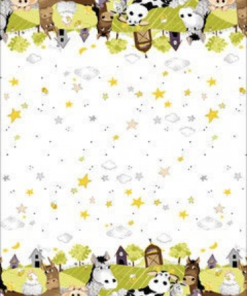 Barnyard Buddies Border Lime by Susybee; Clothworks