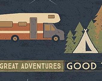Adventure Awaits, By designer Dan DiPaolo, Denim