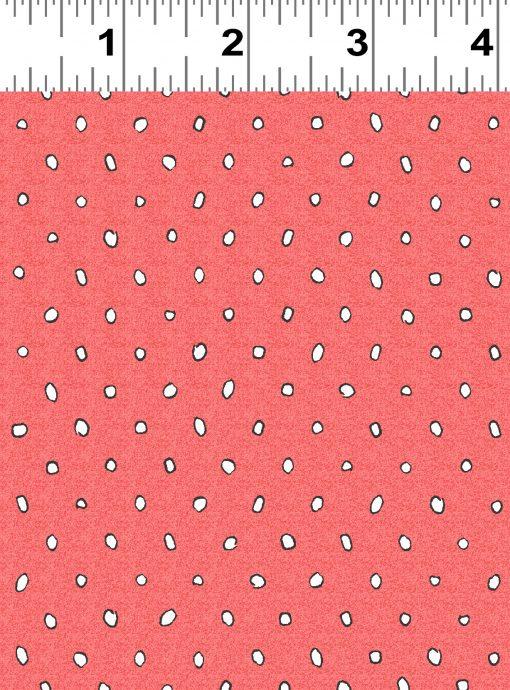 y2739-40 Garden Party, Dark Coral, Dots, Anita Jeram