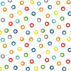 y3036-55 Clothworks, Things that Go, Circles Multi