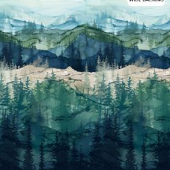 """Whispering Pines Colorway, 108"""" Wide, Northcott Fabric"""