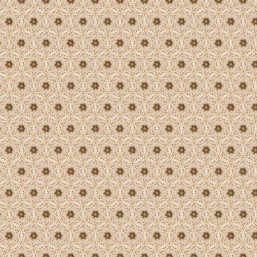 Kensington Park, Deborah Edwards, Northcott Studio 100% Cotton Greenish gray Metallic Floral Print 23834M-11