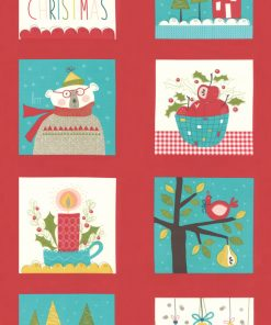 Oh What Fun Moda, Panel, 24x44 Multi, Christmas Fabric