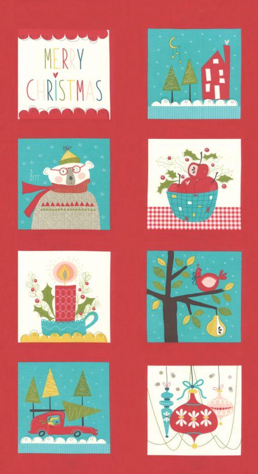 Oh What Fun Moda, Panel, 24x44 Multi, Christmas Fabric