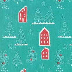 Oh What Fun, Spruce Christmas Fabric from Moda Fabrics