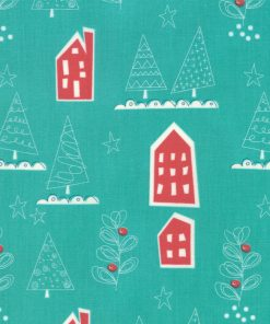 Oh What Fun, Spruce Christmas Fabric from Moda Fabrics