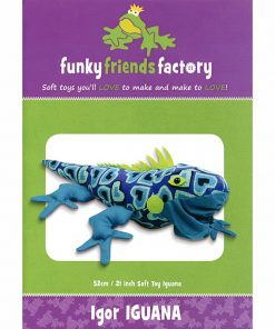 Igor Iguana Funky Friends Factory Paper Pattern