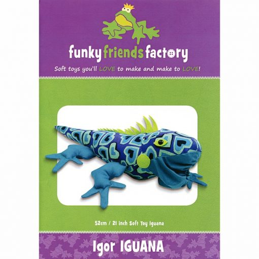 Igor Iguana Funky Friends Factory Paper Pattern