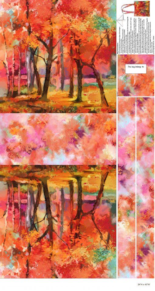 September Morning, Canvas Bag, Northcott Fabrics