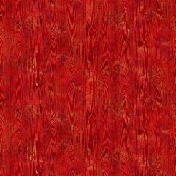 September Morning, Wood Texture, RED, Northcott Fabrics by Deborah Edwards