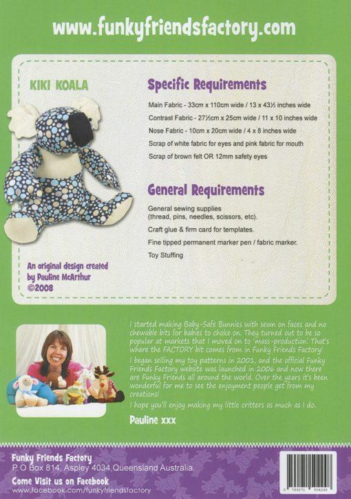 Kiki Koala Fabric Requirements