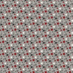 My America Multi-Color Stars | Gray Multi | Northcott Fabrics