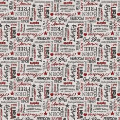 My America Inspirational Words | Light Gray Multi| Northcott Fabrics