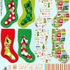 HOLIDAY by Dr. Seuss Enterprises; How the Grinch Stole Christmas, Stockings, PANEL