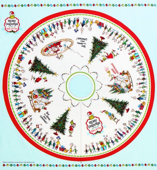 Christmas Tree Skirt Panel, Dr. Seuss Enterprises from How the Grinch Stole Christmas