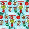 HOLIDAY by Dr. Seuss Enterprises from How the Grinch Stole Christmas, Blue Yardage