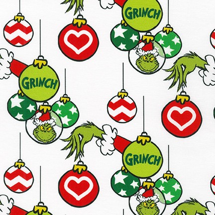 HOLIDAY by Dr. Seuss Enterprises from How the Grinch Stole Christmas, White Yardage