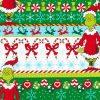 Holiday, Robert Kaufman, How the Grinch Stole Christmas, Border Fabric